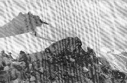 Battaglione alpini Val Dora sul colle della Pelouse giugno 1940