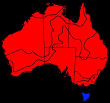 Australia states blank (The Australian War)