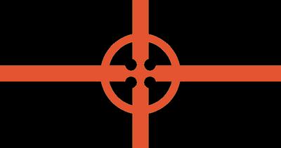Cross flag black
