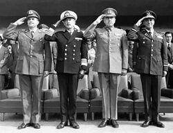 3 Comandantes Fuerzas Chilenas + General de Carabineros
