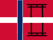 Flag of Norway Empire (World of the Rising Sun)