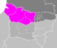 Map of Belgium highlighting Somme