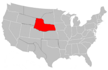 South Lakotah Map