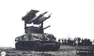 T-34 Calliope rocket launcher