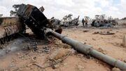 Destroyed Libyan tanks outside Tripoli (SIADD)