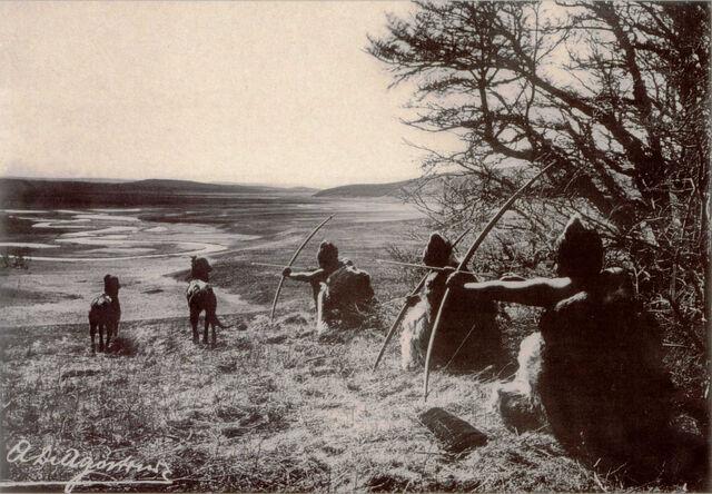 File:Selknam cazando.jpg