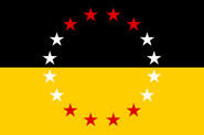 Flag of the United States of Greater Austria (Franz's World)