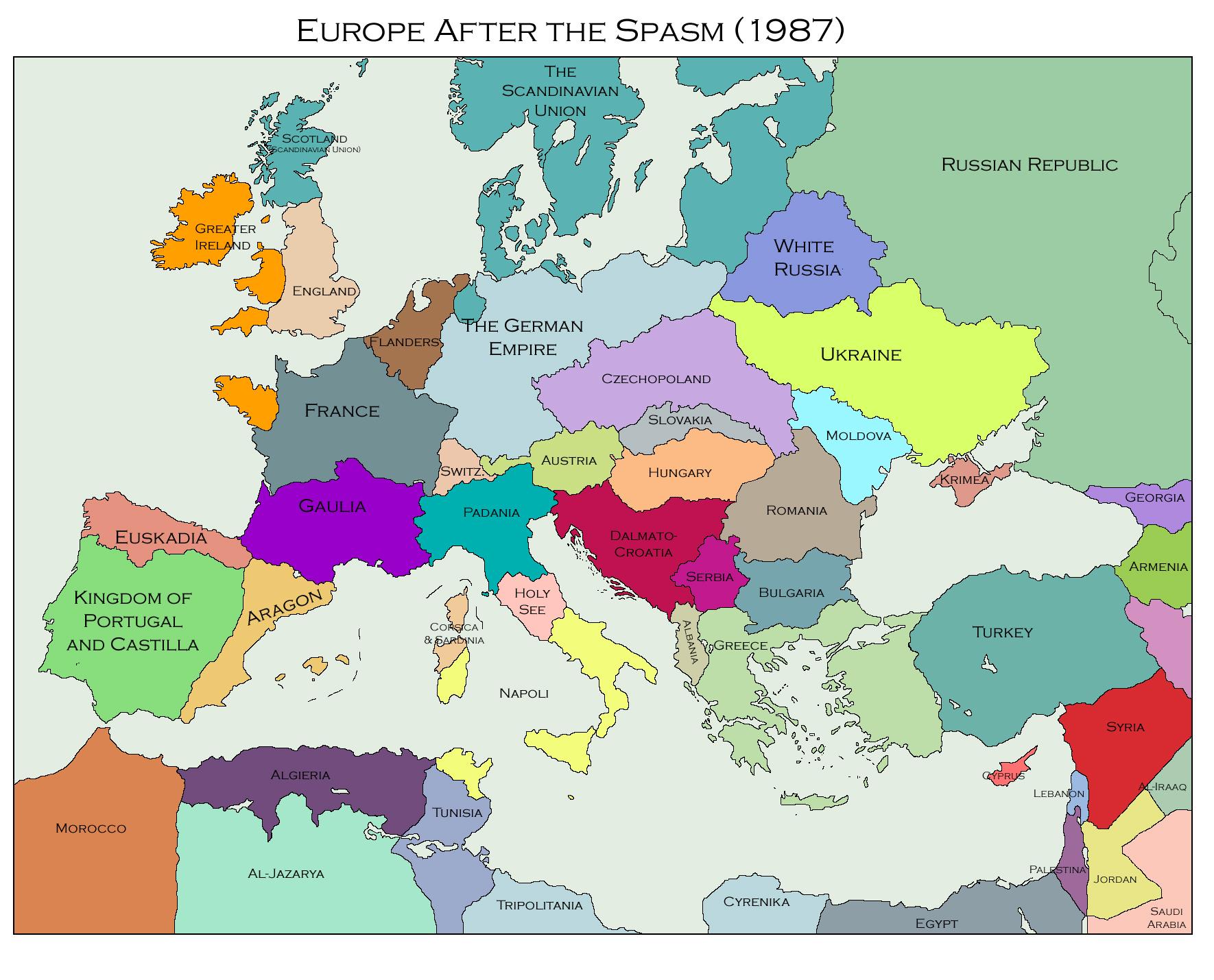 Map Of Europe 1770   casami