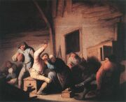 Adriaen van Ostade - Peasants in a Tavern