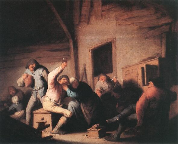 File:Adriaen van Ostade - Peasants in a Tavern.jpg