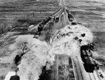 Korean War, train attack