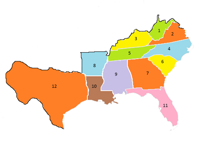 States of the CSA numbered (1858)