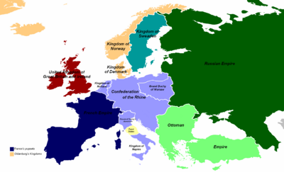 Map-Europe-1814-Regnum Argenta