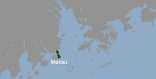 Location of Macau (Shattered Into Pieces)