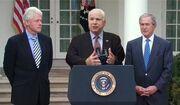 McCain with Clinton and Bush Haiti