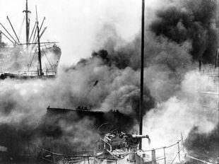 Burning of auxiliary cruiser