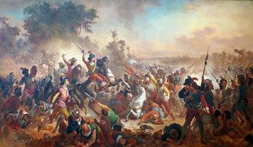 Victor Meirelles - 'Battle of Guararapes', 1879, oil on canvas, Museu Nacional de Belas Artes, Rio de Janeiro 2