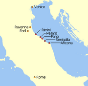Pentapolis within the exarchate of Ravenna