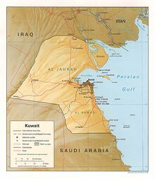 1983DD Kuwait Map