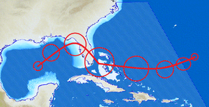 Hurricane in Caribbean