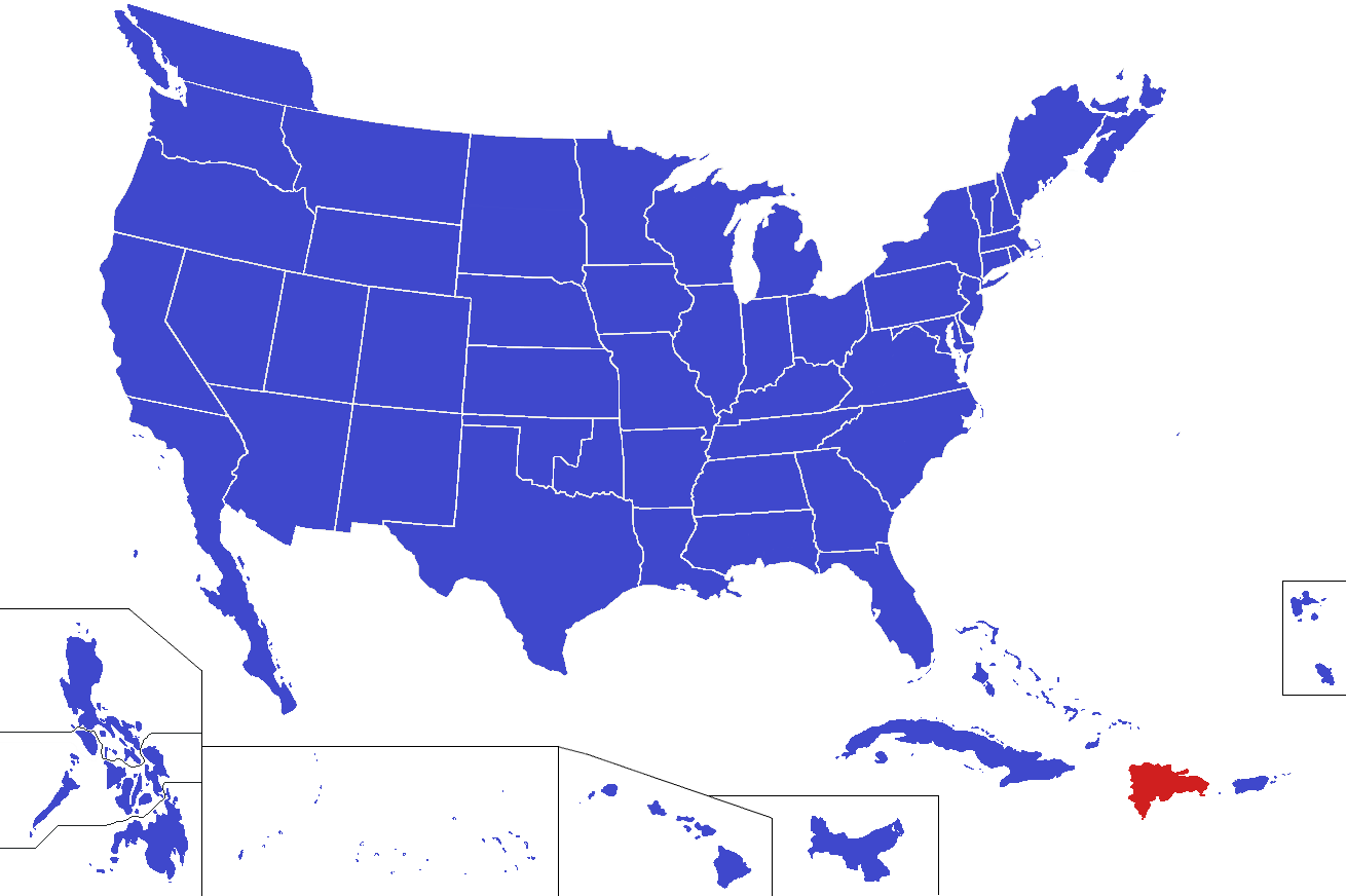 Image United States Map Dominica Alternitypng Alternative - Map of us and dominican republic