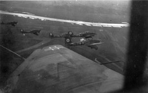 Invasion of CSR - Ju 87 dive bombers over Czechoslovakia (WFAC)
