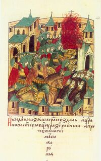 Sacking of Suzdal by Batu Khan
