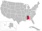 United States Map alabama highlight