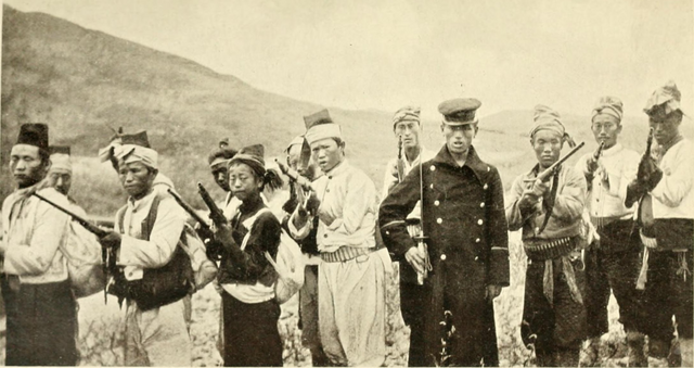 File:Company of Korean rebels 1907 by F.A. McKenzie from Tragedy of Korea losslessrotate0 35cropped.png