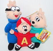 The Chipmunks Kurt Adler Plush
