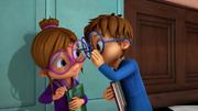 Simon telling Jeanette about his secret workshop