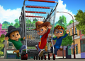 The Chipmunks with Shopping Trolley and Cowboy Outfits.png