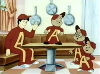 The Chipmunks & Dave Dressed as Alvin