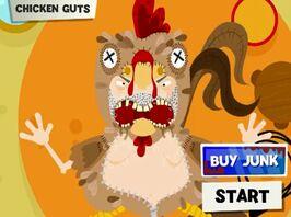 Circus freaks man-eating chicken