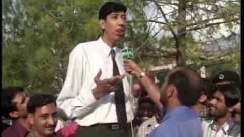 Tallest man of the world in Pakistan by Javaid Kazmi PTV