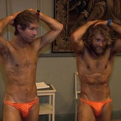 Andy &amp; Tommy wearing Speedos in <a href=