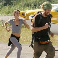 TK &amp; Rachel run to the <a href=