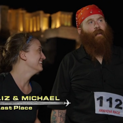 Liz & Michael are eliminated from the race in 6th place.