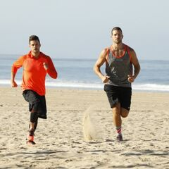 Tanner &amp; Josh running to the <a href=