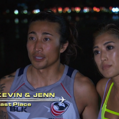 Kevin & Jenn are the first team eliminated from the race in 11th place.