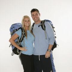 Jordan &amp; Jeff's alternate promotional photo for <i>The Amazing Race</i>.