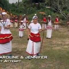 Caroline &amp; Jennifer doing the <i>Spin Control</i> Detour on <a href=