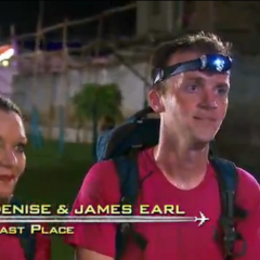 Denise & James Earl were eliminated from the race at 5th place.