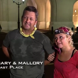 Gary & Mallory were eliminated from the race in 6th place.