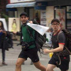 Tyler &amp; Korey running during <a href=