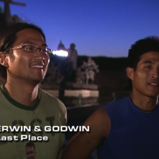 Erwin & Godwin were eliminated from the race in 5th Place after Lyn & Karlyn broke their alliance.