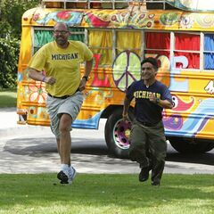 Gary &amp; Will running to the <a href=