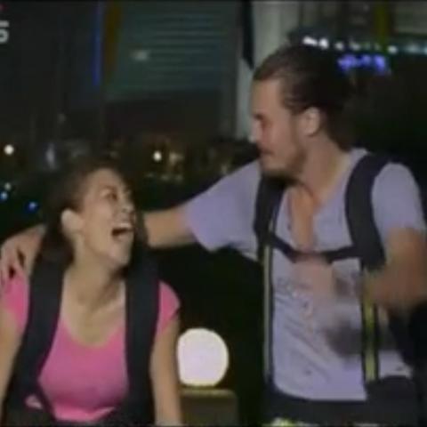 Charlie &amp; Rachel winning <i>The Amazing Race: China Rush</i>.