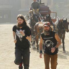 Brandon &amp; Adam running towards the <a href=