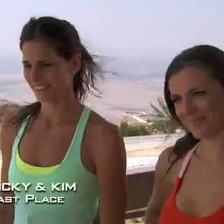 Nicky & Kim were eliminated from the race in 6th place.